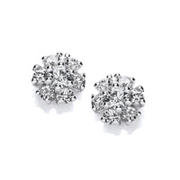 CZ Cluster Earrings