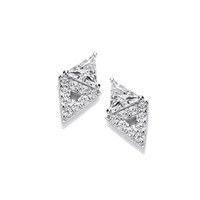 Double Diamond CZ Earrings