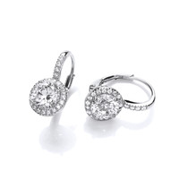 French Fancy Silver and CZ Earrings