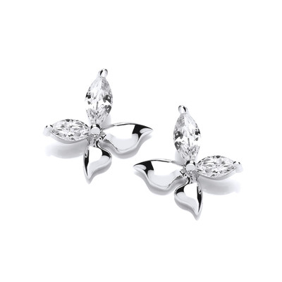 'Float Like a Butterfly' Cubic Zirconia Earrings