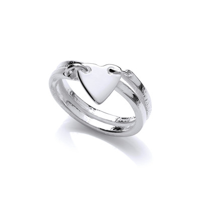 Silver 'Love is in the Air' Ring