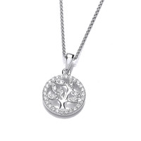 Mini CZ Encrusted Tree of Life Design Pendant