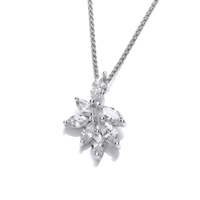 Silver and CZ Iris Pendant