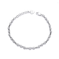 Silver and Mini CZ Stars Bracelet