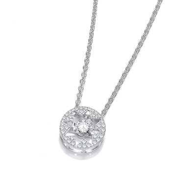 Dancing Cubic Zirconia Star Necklace