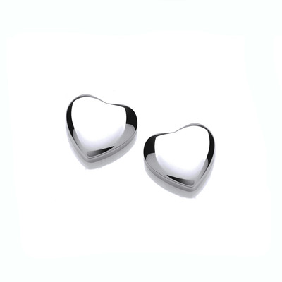 Teeny Tiny Silver Heart Earrings