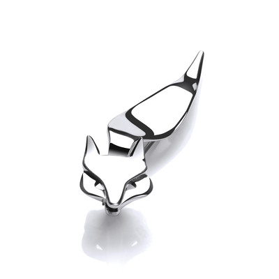Silver Snooty Fox Brooch