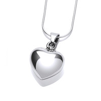 True Love Silver Heart Pendant