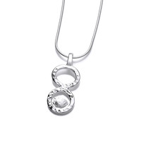 Hammered Silver Rings Pendant