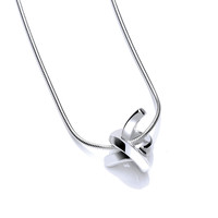 Polished Silver Love Knot Pendant