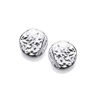 Dappled Silver Stud Earrings