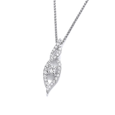 'In a Twist' Silver and CZ Pendant