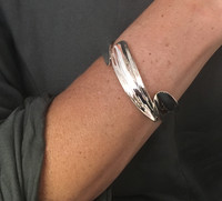 Sterling Silver Triple Curve Cuff Bangle
