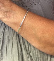 Fine Silver Diamond Style Bangle