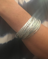 Sterling Silver Wreath Bangle