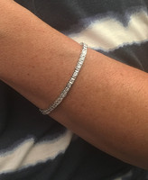Small Square Cubic Zirconia Tennis Bracelet