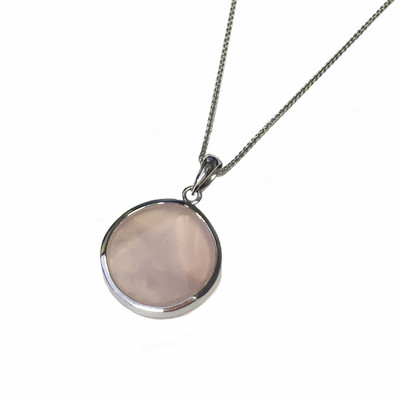 Rose Quartz Star Pendant without Chain