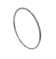 Sterling Silver Round Bangle