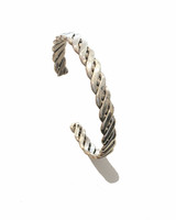 Sterling Silver Solid Chevron Weave Bangle