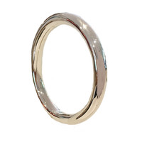 Sterling Silver Classic Oval Bangle