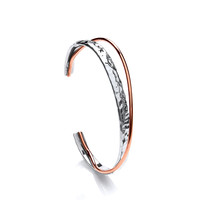 Sterling Silver and Copper Twinned Bangle