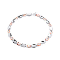 Sterling Silver and Copper Ovals Necklace