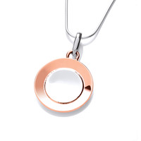 Sterling Silver and Copper Satellite Pendant