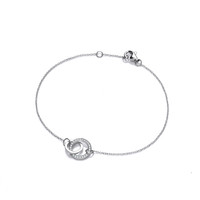 SIlver and CZ Eternal Love Bracelet