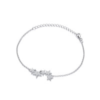 Silver and CZ Shooting Stars Bracelet