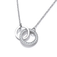 SIlver and CZ Eternal Love Necklace