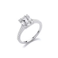 Silver and CZ Deco Heaven Ring