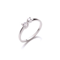 Silver and CZ Simple Open Ring