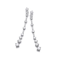 Silver and CZ Party Drop Earrings