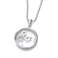 Celestial Silver and CZ Shooting Stars Pendant