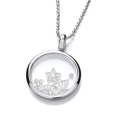 Celestial Silver & Cubic Zirconia Sky at Night Pendant