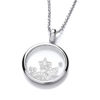 Celestial Silver and CZ Sky and Night Pendant