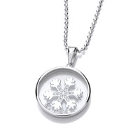 Celestial Silver and CZ Snowflake Pendant