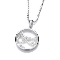 Celestial Silver and CZ Infinity Pendant