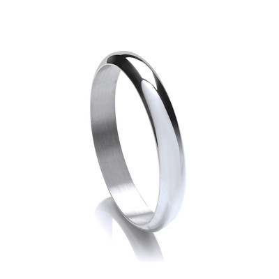 Sterling Silver Simple Circle Bangle