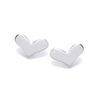 Silver Happy Heart Earrings
