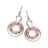 Sterling Silver and Copper Astral Earrings