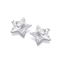 Silver Organic Star Earrings