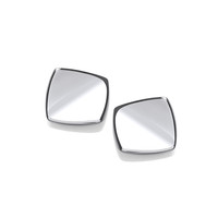 Square Silver Vogue Earrings
