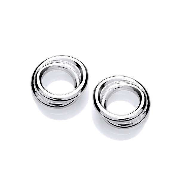 Silver Double Hoop Earrings