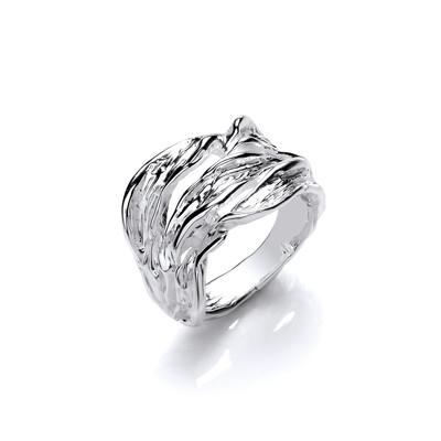 Silver Gentle Waves Ring