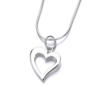 Silver Quirky Heart Pendant