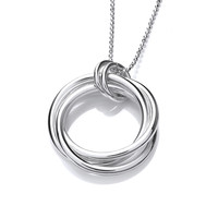 Silver Multi Ring Pendant