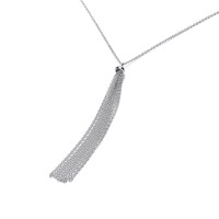 Silver Tassle Drop Necklace