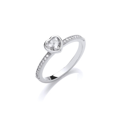 True Love Heart Solitaire Ring