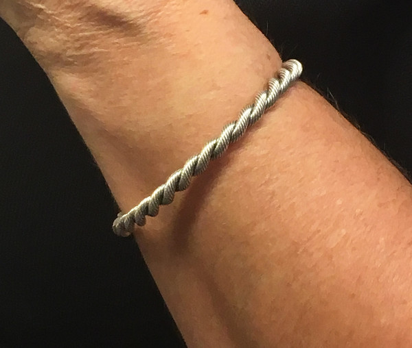 Details about  /Sterling Silver Natural Freshwater Pearl Twisted Rope Wire Torque Cuff Bangle